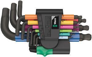 Wera Tools Short Coloured Hex Allen Keys Long 1.5mm > 10mm In Holder