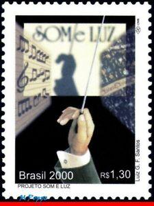 2774 BRAZIL 2000 LIGHT AND SOUND PROJECT, MUSIC, MI# 3121 RHM C-2353, MNH