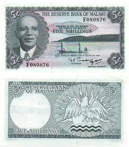 Malawi - 5 Shillings 1964 aUNC P. 1A Lemberg-Zp