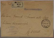 POSTA MILITARE 151 RACCOMANDATA 24.6.1918 TIMBRO 66° REGGIMENTO FANTERIA #XP486G