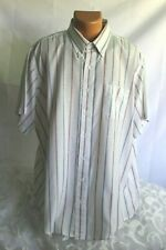 Men - BOSTON ALEXANDER LLOYD (18 1/2 BIG) Shirt Red White Blue Stripe Collared