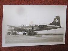 PHOTO DOUGLAS C-54A SKYMASTER G-ASEN INVICTA GATWICK AIRPORT
