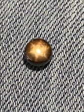 1.36 ct Natural Loose Unheated Black and Gold Star Sapphire 6mm Round Gemstone