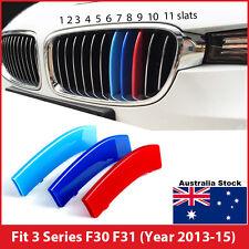 M-Tech 11 Slats Kidney Grille 3 Colour Cover Clip BMW 3 Series F30 F31 2013-2015