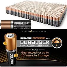 100 Duracell MN1500 AA 1.5V Alkaline Coppertop Long Lasting Batteries w/DuraLock