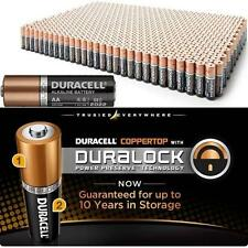 100 Duracell MN1500 AA 1.5V Alkaline Coppertop Long Lasting Batteries w/DuraLock
