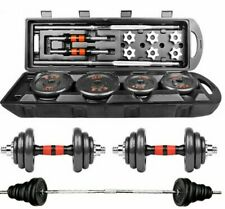 Home Gym Adjustable Weight Dumbbell Set, Free Weight Set With Connecting Rod 50K