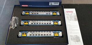 SNCF VITRAINS SET DE 3 VOITURES VB 2N NORD PAS DE CALAIS  HO-DC- N° 1105* PROMO*