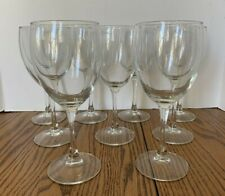 Luminarc Nuance Goblet Clear Wine Glass 10 1/2 oz Stemware Lot of 9
