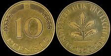 GERMANY 10 PFENNIG 1950-G (CHOICE PROOF) *ONLY 1,800 MINTED*