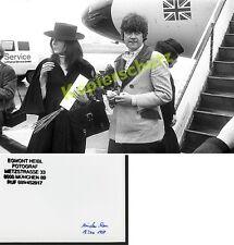 Foto Diana Rigg Flughafen München - Riem Lufthansa James Bond Premiere Film 1969