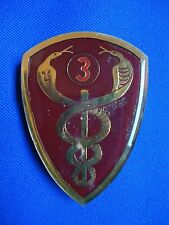 SOUTH AFRICA AFRICAN 3 MILITARY HOSPITAL AMBULANCE MEDICAL BREAST BADGE 71mm