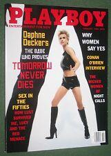 Playboy Feb 1998 Julia Schultz Daphne Deckers Bond Girl Conan O'Brien interview
