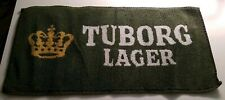 "Tuborg Lager Beer Bar Towel Vintage 8"" x 17"" Carlsberg Uk Great Condition"