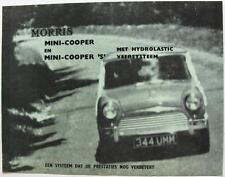 MORRIS MINI Cooper & Cooper S Original Car Sales Brochure 1967 Dutch #032867