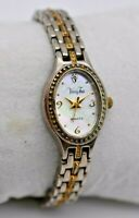 Ladies VANITY FAIR Two-Tone Dress/Bracelet Watch, Mother of Pearl Dial, VFW514