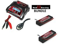 Redcat Racing LIPO Battery TWO HX-500025C-BV2  AND HX-403 Charger bundle Tr-mt8e