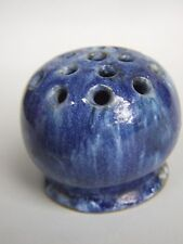 Antique Australian Pottery  John Campbell Blue Flowers Frog / Vase Signed 1934's