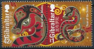 [1146] Gibraltar 2013 Year of the Snake good Set very fine MNH Stamps