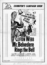 MR BELVEDERE RINGS THE BELL pressbook, Clifton Webb, Joanne Dru ---PLUS POSTER--