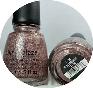 china glaze nail polish hello gorgeous 1139 opaque pink holographic sparkles lac