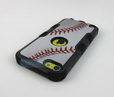 APPLE IPOD TOUCH 5 6 5TH 6TH GEN BASEBALL DESIGN NATURAL TUFF IMPACT CASE COVER