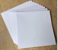 "100 x Plain White LP Sleeves Outer Card Album 12"" Cover Test Press Vinyl Record"