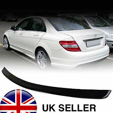 PAINTED GLOSS BLACK Mercedes C Class W204 4D ABS Boot Spoiler AMG STYLE OME FIT