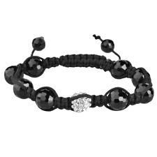 Unisex Bling Shamballa Onyx Bracelet - DISCO BALL noir