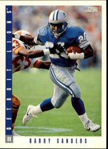A111- 1993 Score Football Card #s 1-250 +Rookies -You Pick- 10+ FREE US SHIP