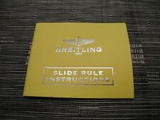 Instructions Manual Book Breitling Watch Slide Rule