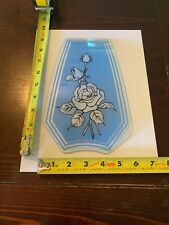 Touch Lamp Replacement Glass Panel Blue And White Rose