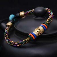 Metal Switch luck bead Eight strands of rope for man women bracelet style Thai