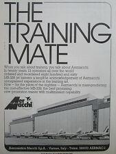 3/1980 PUB AVION AERMACCHI MB-339 MILITARY JET TRAINER ORIGINAL AD