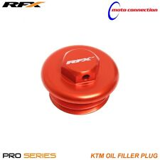 RFX ORANGE ANODISED ALLOY OIL PLUG FILLER CAP KTM SXF250 SXF350 SXF450 2015