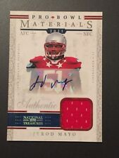 Jerod Mayo 2012 Panini National Treasures Pro Bowl Auto/Jersey #2/25 Patriots