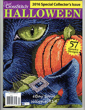 """""""HALLOWEEN""""~Counted Cross Stitch PATTERN MAGAZINE~2016 Special Issue~57 Designs"""
