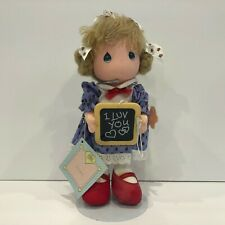 Vintage 1987 Precious Moments Friendship Line Doll I Luv You #16030 Chalkboard