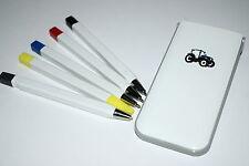 Blue Ford/New Holland Tractor Pens pencil highlighter Set Fun gift idea Farming