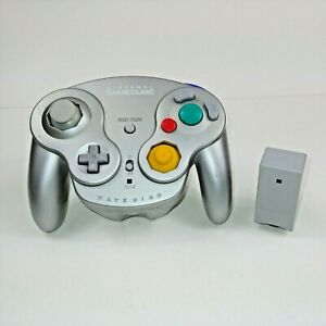 Nintendo Gamecube OEM Wavebird Wireless Controller Platinum Silver w/ Receiver