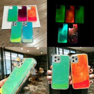For iPhone 12 SE XR 11 Pro 7 Plus 8 XS Max Glitter Luminous Gradient Case Cover