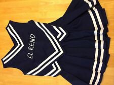 Cheerleading Uniform Blue El Reno Small Skirt Top