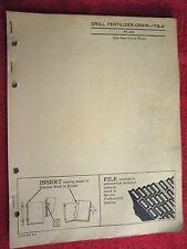 John Deere Fb-A Fertilizer Grain Drill Parts Catalog Manual Pc-278