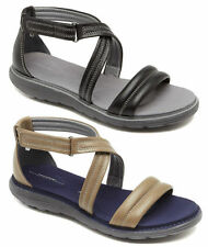 Hook and Loop Fasteners Flat (0 to 1/2 in.) Leather Ankle Strap Sandals & Flip Flops for Women