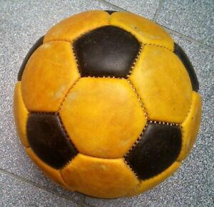 Vtage LEATHER SOCCER BALL 100% Genuine football nº5 32 panels !!!!