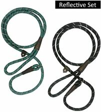 2x Durable Dog Slip Rope Leash Lead Reflective Pulling Large Medium Dogs 6 feet