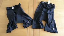 Btwin Oxylane 2 pair of black padded men's shorts size M