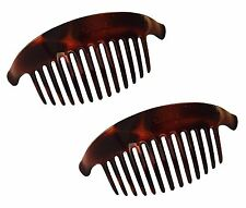 Parcelona French Large Set of 2  Shell 11 Teeth Interlocking Side Hair Combs