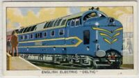 "1955 English Electric ""Deltic"" Train Engine Vintage Ad Card"