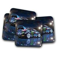 4 Set - Awesome Rally Car Coaster - Drift Drifting Race Racing Stunt Gift #12531
